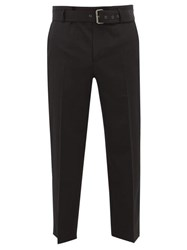 J.W.Anderson Jw Anderson Belted Wool Cropped Trousers Black