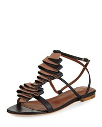 Malone Souliers Audrey Ribbon Leather Flat Sandal Neutral Pattern