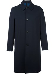 Paul Smith Single Breasted Classic Coat Blue