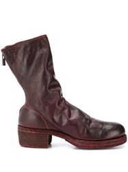 Guidi Worn Effect Boots Brown