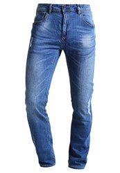 Springfield Rotos Slim Fit Jeans Blue Destroyed Denim