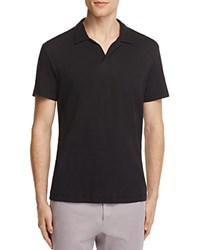 Theory Willem Nebulous Slim Fit Polo Shirt Black
