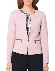 Tahari By Arthur S. Levine Side Zipper Jacket Rose