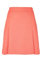 Topshop Pleated Pelmet Skirt Bright Coral