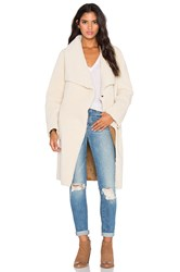Velvet By Graham And Spencer Tangy Faux Fur Coat Cream