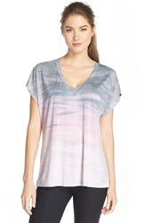 Hard Tail 'Siro' Slouchy V Neck Tee Pale Pink Dusk