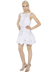 Ermanno Scervino Lace And Embroidered Cotton Muslin Dress