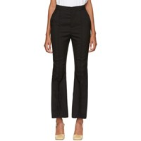 Marni Black Tropical Wool Trousers