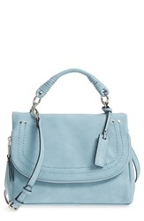 Sole Society Top Handle Faux Leather Crossbody Bag Blue Glacier Blue