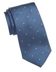 Vince Camuto Textured Dot Silk Tie Navy