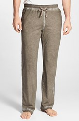 Men's Daniel Buchler Powder Wash Peruvian Pima Cotton Lounge Pants Brick