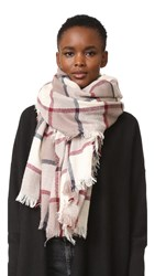Hat Attack Plaid Scarf Navy Cream Red