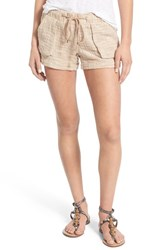Women's Jolt Textured Cotton Drawstring Shorts