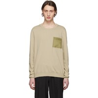 Maison Martin Margiela Beige Front Pocket Sweater