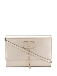 Valentino Garavani Vring Shoulder Bag Gold