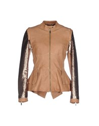 Elisabetta Franchi Gold Coats And Jackets Jackets Women Brown