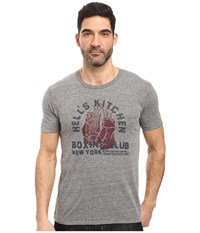 Lucky Brand Hells Boxing Graphic Tee Heather Grey Men's T Shirt Gray