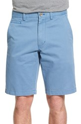 Nordstrom Men's Big And Tall Men's Shop Washed Flat Front Shorts Blue Coronet