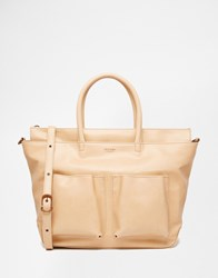 Matt And Nat Large Tote Bag With Pockets Beige