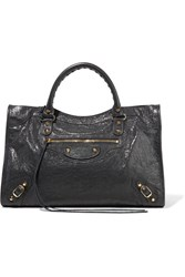 Balenciaga Classic City Textured Leather Tote Charcoal
