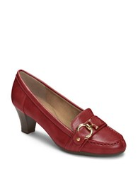 Aerosoles Seashore Pumps Dark Red