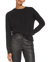 Whistles Donegal Cashmere Sweater Black Multi