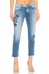 Ei8ht Dreams Floral Embellished Boyfriend Light Wash