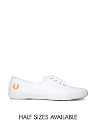 Fred Perry Bell Canvas White Plimsoll Trainers