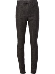 Haider Ackermann Panelled Skinny Trousers Black