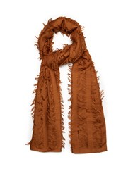 Chloe Fil Coupe Wool And Silk Blend Scarf Tan