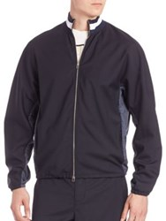 3.1 Phillip Lim Mockneck Zip Front Jacket Midnight