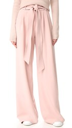 Milly Trapunto Trousers Blush