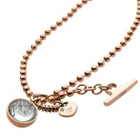 Storm Crysta Ball Necklace Rose Gold