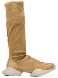 Rick Owens Adidas By Platform Knee Length Boots Nude And Neutrals