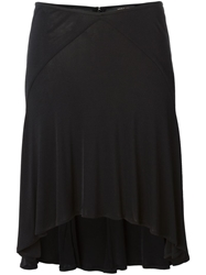 Versace Vintage Fluid Flared Skirt Black