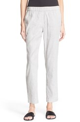 Women's Theory 'Northsound Tierra' Linen Blend Pants Grey White