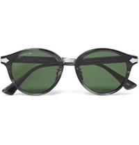 Gucci Round Frame Acetate And Silver Tone Sunglasses Green