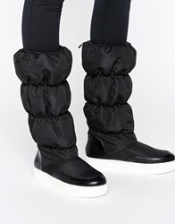 Monki Padded Knee Boot Black