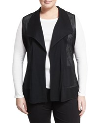Ming Wang Perforated Relaxed Vest Black