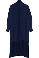 Rosetta Getty Oversized Wool And Cashmere Blend Cardigan Navy