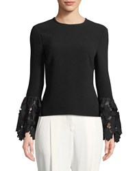 Rachel Zoe Emily Long Sleeve Blouse With Lace Cuffs Black