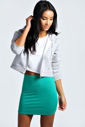 Boohoo Basic Bodycon Mini Skirt Bright Green