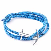 Anchor And Crew Blue Noir Admiral Rope Bracelet