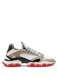 Moncler Trevor Neoprene Suede And Mesh Trainers Black Multi