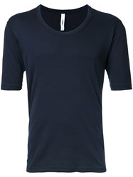 Attachment Plain T Shirt Blue