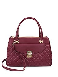 Love Moschino Faux Leather Satchel Dark Red