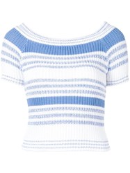 Red Valentino Ribbed Knit Top White
