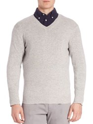 Faconnable Cashmere Knit Pullover Light Grey