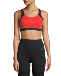 Nike Motion Adapt High Support Sports Bra Red Pattern