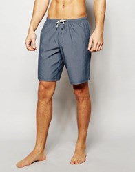 Esprit Woven Lounge Shorts In Slim Fit Blue